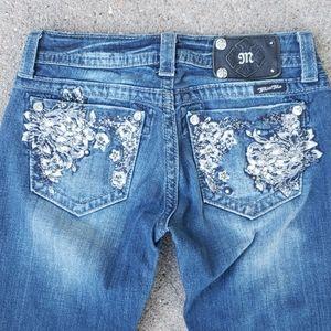 Miss Me Embellished Straight Leg Jeans